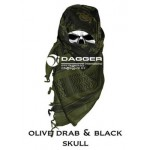 АРАФАТКА Tactical Shemagh OD/Black Color Skulls код DAGGER DI-9056
