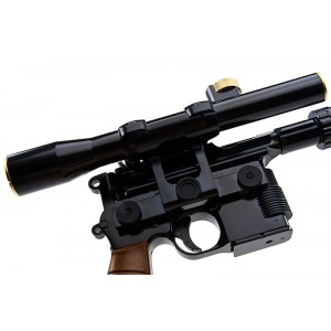AW CUSTOM M712 STAR WARS STYLE W/ SCOPE & FLASH HIDER GBB PISTOL [ARMORER WORKS]